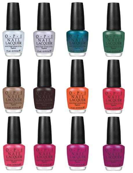 OPI color chart